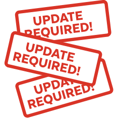Update required 3 signs